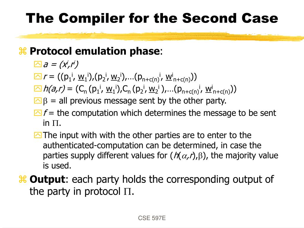 The Compiler for the Second Case
