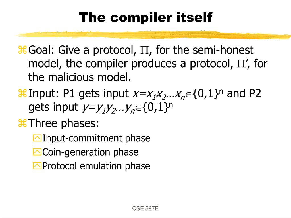 The compiler itself