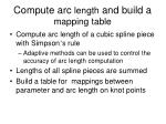 compute arc length and build a mapping table