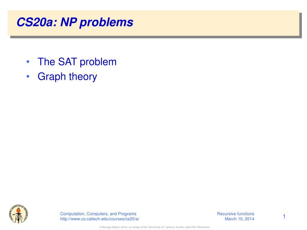 cs20a np problems l.