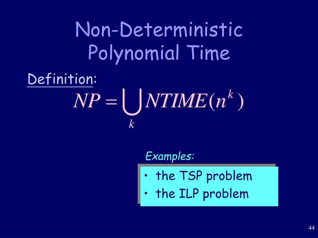 Non-Deterministic Polynomial Time
