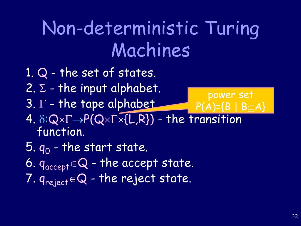 Non-deterministic Turing Machines