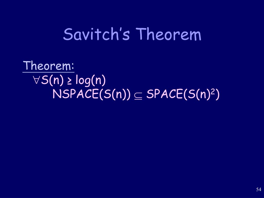 Savitch's Theorem