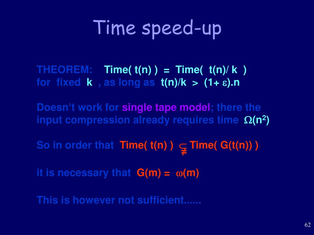 Time speed-up