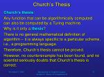 church s thesis