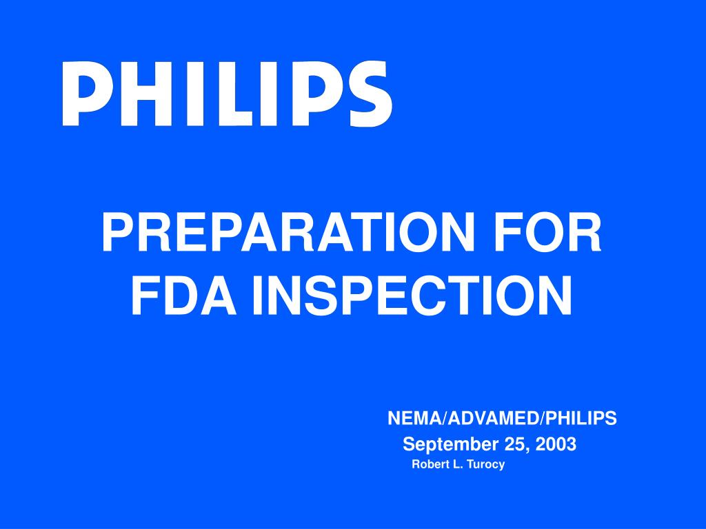 preparation for fda inspection l.