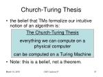 church turing thesis