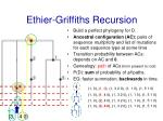 ethier griffiths recursion