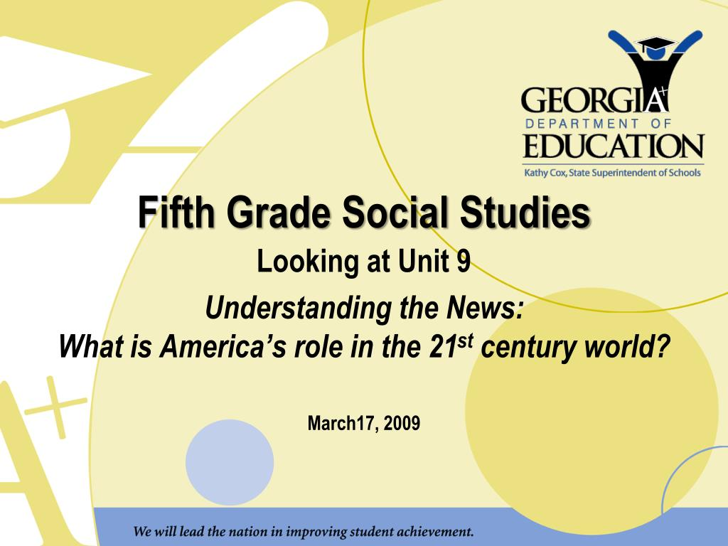 fifth grade social studies l.