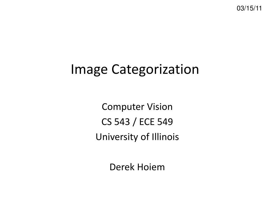 image categorization l.