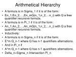 arithmetical hierarchy