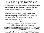 collapsing the hierarchies