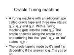 oracle turing machine