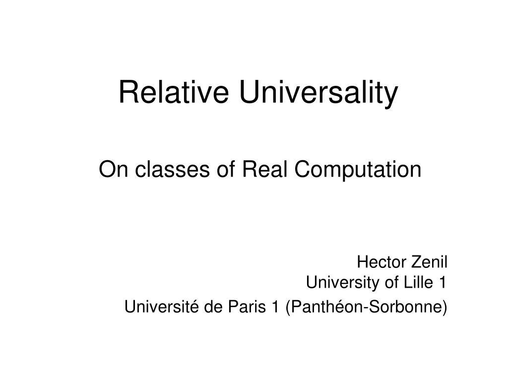 relative universality l.