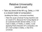 relative universality sketch proof