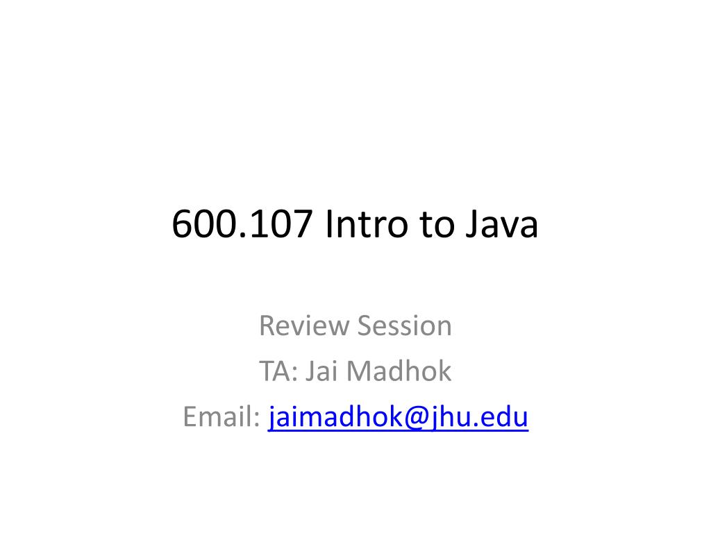 600 107 intro to java l.