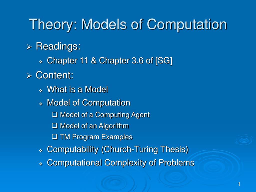 theory models of computation l.