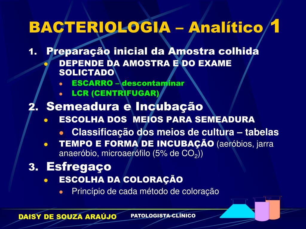 BACTERIOLOGIA – Analítico