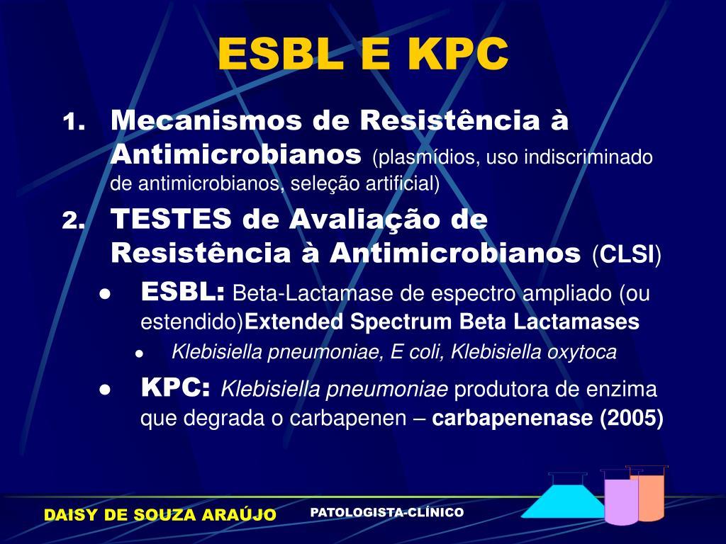 ESBL E KPC