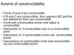 axioms of constructability