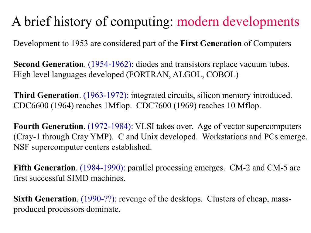 a brief history of computers