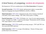 a brief history of computing modern developments