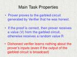main task properties
