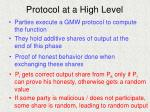 protocol at a high level