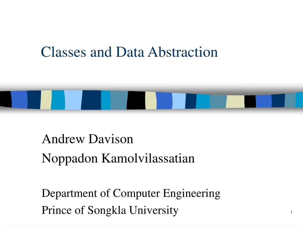classes and data abstraction l.