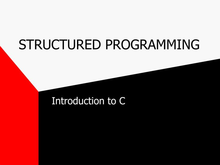 structured programming n.