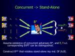 concurrent stand alone