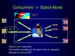 concurrent stand alone23
