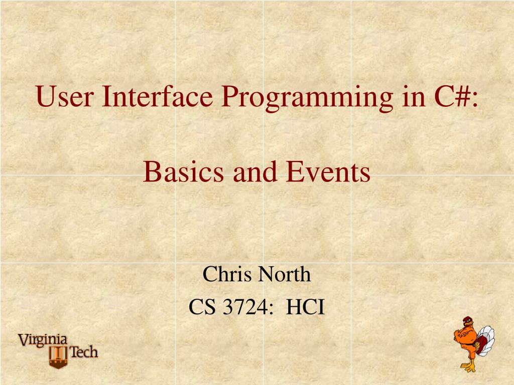 user interface programming in c basics and events l.