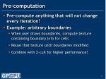 pre computation