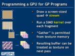 programming a gpu for gp programs