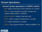 stream operations