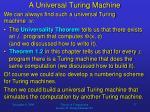 a universal turing machine17