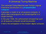 a universal turing machine18