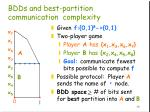 bdds and best partition communication complexity