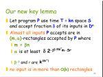 our new key lemma