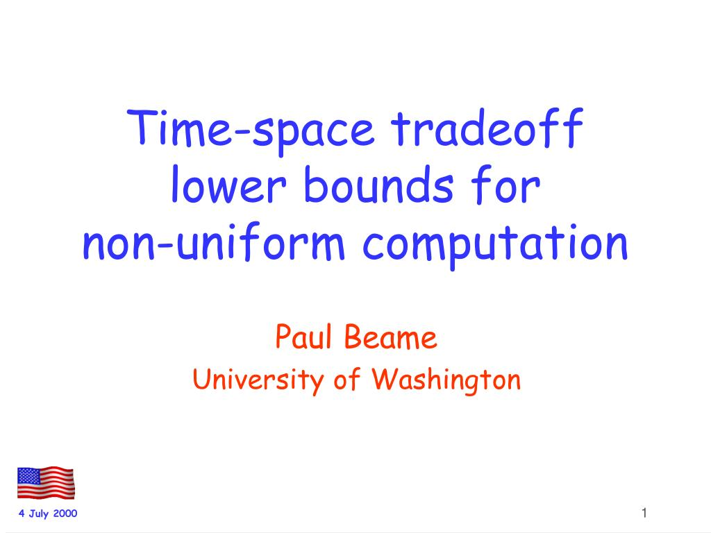 time space tradeoff lower bounds for non uniform computation l.