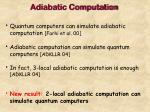 adiabatic computation