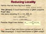 reducing locality