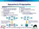 approaches to te aggregation