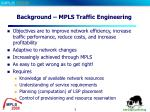 background mpls traffic engineering