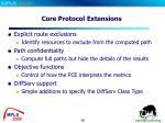 core protocol extensions