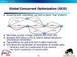 global concurrent optimization gco