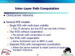 inter layer path computation