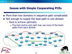 issues with simple cooperating pces
