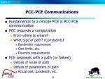 pcc pce communications